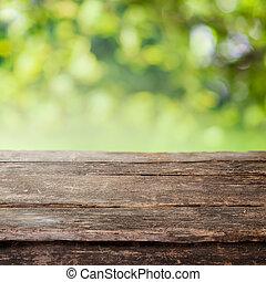 柵欄, 木制, 國家, 頂部, 或者, 鄉村, 桌子, 板條