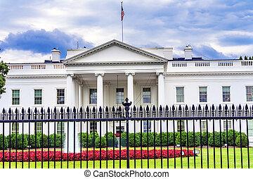 柵欄, 賓夕法尼亞, 房子, 華盛頓特區, ave, 白色