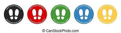 框架, 保持, 屠夫, 簽署, 超級市場, 足跡, 紅色, 集合, 彙整, 或者, shop., 輪, 圖象, 距離, 你, 社會, distancing