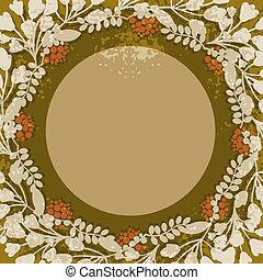 框架, 圓, 葡萄酒, 植物
