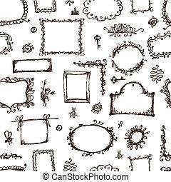 框架, 圖案, seamless, 圖片
