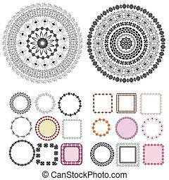 框架, 圖樣, 集合, 蔓藤花紋, 輪