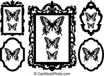 框架, 圖片, 蝴蝶