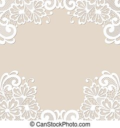 框架, 矢量, 裝飾品, 花