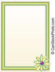 框架, 花, 邊框