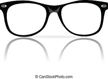 框架, 黑色, 眼鏡