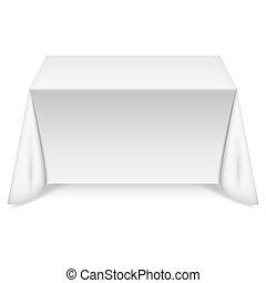 桌子, 白色, 桌布, 長方形