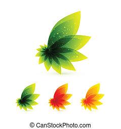 桔子樹葉, 矢量