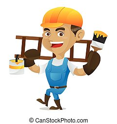 梯子, 做零活的人, 畫, 運載, 刷子, 藏品