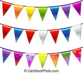 棉經毛緯平紋呢, 彩虹, 旗幟, 花環