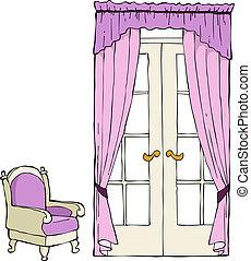 椅子, 門