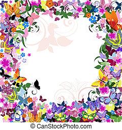 植物的模式, 框架, 蝴蝶