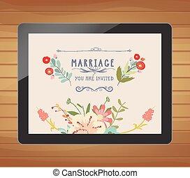 植物, 婚禮邀請