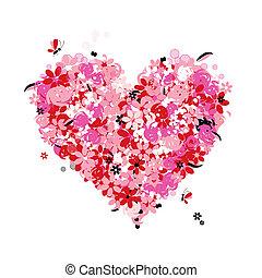 植物, 心, 愛, 形狀