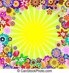 植物, 摘要, 光線, 背景