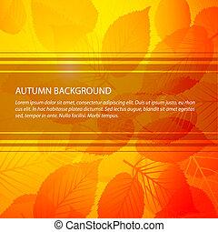 植物, 摘要, 矢量, 背景, 秋天