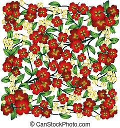 植物, 摘要, 裝飾品, 白色 背景