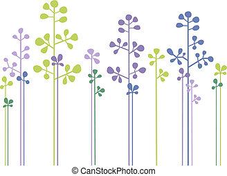 植物, 森林, 矢量, 設計