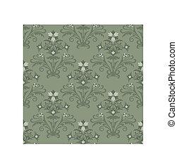 植物, 牆紙, 綠色, seamless