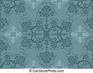 植物, 綠松石, 牆紙, seamless
