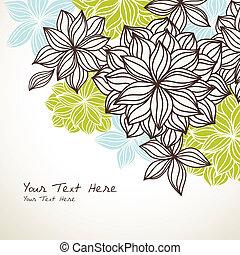 植物, 背景, 藍色, 角落, 綠色