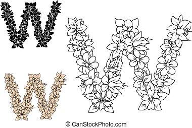 植物, 花, w, 信, 開花