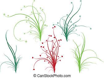 植物, 草, 矢量