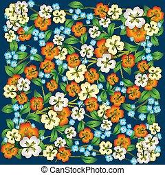 植物, 藍色, 摘要, 裝飾品