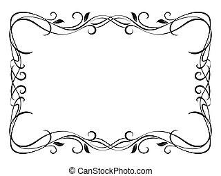 植物, 裝飾, 裝飾, 矢量, 框架