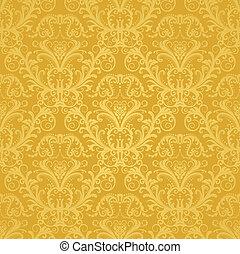 植物, 黃金, 牆紙, 豪華