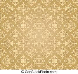 植物, 黃金, 牆紙, seamless