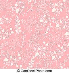 植物, pattern., seamles