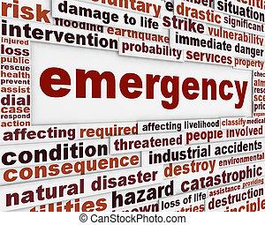概念性, 消息, 緊急事件, 背景