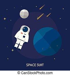 概念性, 空間, 設計, 插圖, 衣服