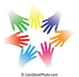 概念, 人們, 其他, 社區, 舉行, 結合, 合作, 組, 聯网, 表明, 鮮艷, 隊, 插圖, 幫手, 人們, 一起, 多種族, 每一個, 精神, 等等, 社會