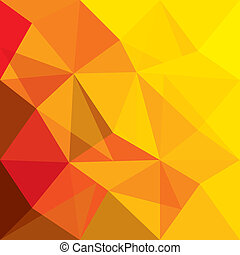 概念, 形狀, 橙, 矢量, 背景, 幾何學, 紅色