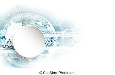 概念, 摘要, 全球, 矢量, 背景, 數字技術