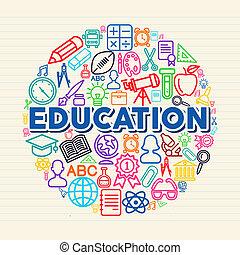 概念, 教育, 插圖