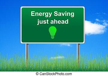 概念, 能量, 天空, 保留, 簽署, 背景。, 路