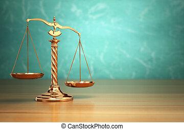 概念, 規模, justice., 背景。, 綠色, 法律