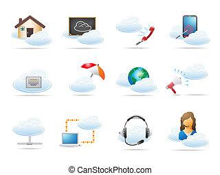 概念, 計算, 雲, 圖象