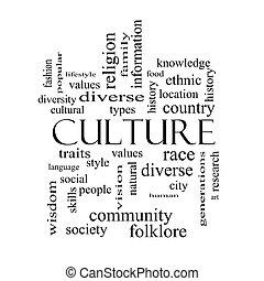 概念, 詞, 文化, 黑色, 懷特雲