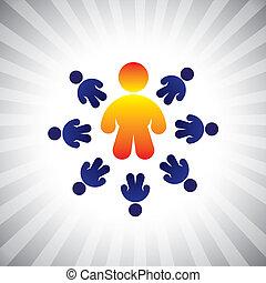 概念, graphic-, 上尉, &, 工人, cfo, 也, ceo, 領導人, 概念, 插圖, 老板, 追隨者, 代表, 相象, 位置, 人們。, 領導, 等等, 矢量, 工人, 隊, 商人, 或者