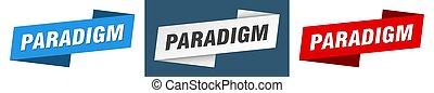 標簽, 簽署, banner., 帶子, paradigm, 集合