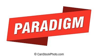 標簽, paradigm, 旗幟, 簽署, template., 帶子