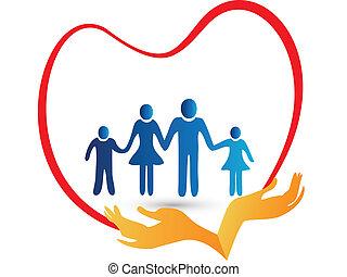 標識語, 保護, 愛, 家庭, 手