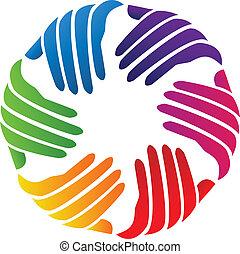 標識語, 公司, 矢量, 手, 慈善