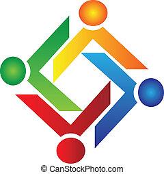 標識語, 慈善, 矢量, 配合, 人們