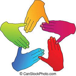 標識語, 手, 人們, 差异