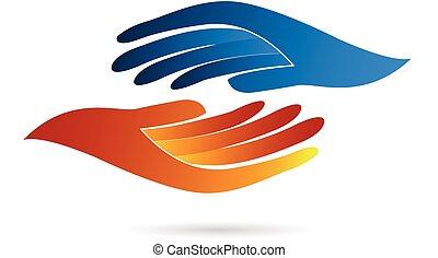 標識語, 握手, 事務
